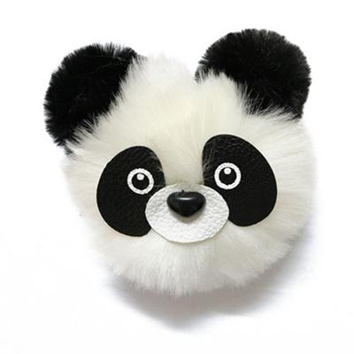 Fashion Fluffy Faux Rabbit Fur Ball Panda Toy Keychain Women Cute Pom Pom  Fur Key Ring f7b17d749a