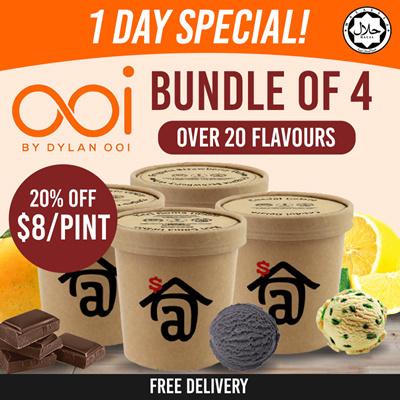 [10% OFF] Bundle of 4 Pints (U.P. $40)
