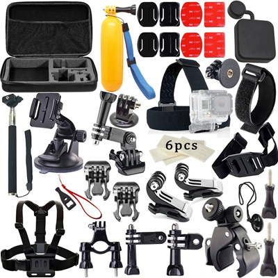 qoo10 33 in 1 accessories kits pack for gopro hero 4 sjcom sj4000 sj5000 sj6 cameras. Black Bedroom Furniture Sets. Home Design Ideas