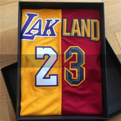 buy online ff4d1 d1f57 Lebron James joining together the lakers jerseys 23 men and women  basketball jersey