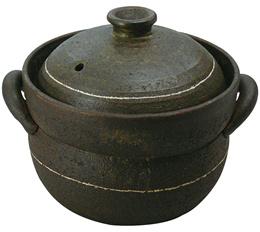 Bunko Yakiniku 2 lid covered rice cooked masterpiece 4 (1 - 4 combined cooked) black glaze 0705-5173