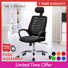 RAMOS Classy Large Sized Mesh Office Chair with Headrest