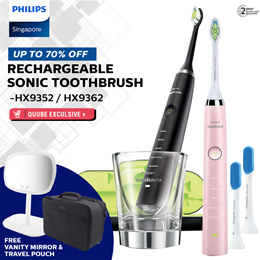 *QUUBE EXCLUSIVE* Philips Sonicare DiamondClean Rechargeable Sonic Toothbrush -HX9352 / HX9362