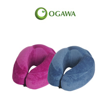 [1+1 Bundle] OGAWA Plush Touch - Luxurious Travel Pillow with MEMORY FOAM Cushioning