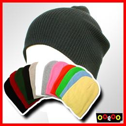 12 Color Choice High Quality 100% COTTON Long PLAIN Striped BEANIE WINTER SKI HAT CAP SKULL NWT