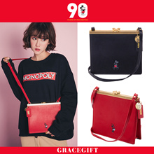 Gracegift-Disney Mickey 90Th Anniversary Retro Buckle Bag/Women/Ladies/Girls