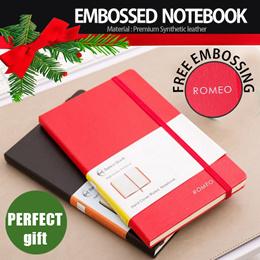 Christmas Gift 2020♥Minimalist Notebook♥Free Name Embossing♥Personalised Gift♥ Moleskin inspired