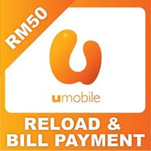 U MOBILE Prepaid and Postpaid RM50 / RM100
