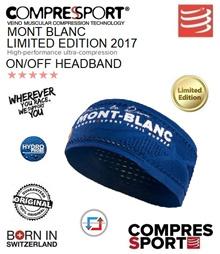 Compressport UTMB Limited Edition On/Off Headband Blue. FREE SHIPPING!!!