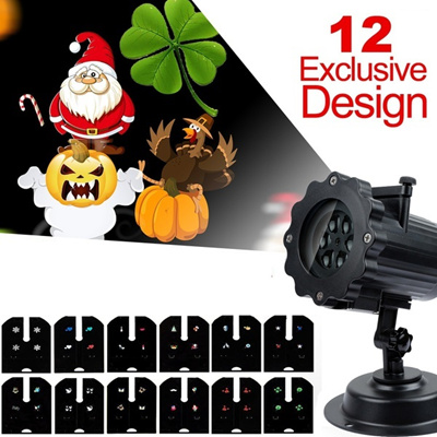 Waterproof A Variety of Patterns Outdoor Garden Snowflake Projection Lamp for Christmas Birthday (Si