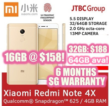 REDMI NOTE 4X 16GB / 32GB / 64GB DECACORE! / DUAL SIM / GLOBAL ROM / 6 MTHS WARRANTY