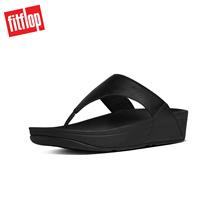 Fitflop™ Lulu Leather Toepost Black Mens Sandals