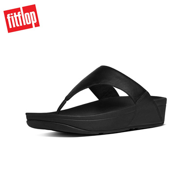 45d3d68646201 Qoo10 - Fitflop™ Lulu Leather Toepost Black Mens Sandals   Men s ...
