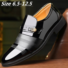 Big Size 6.5-12.5 British Style Business Formal Genuine Leather Shoes Wedding Shoes Men Pointed Toe
