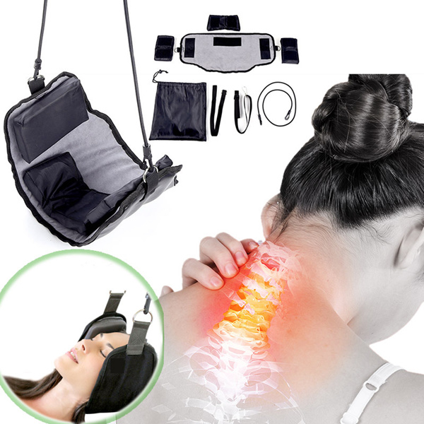 Neck Therapy Hammock Nerves Pressure Tension Headaches Pain Relief Massager Traction Device Cervical Deals for only S$13.9 instead of S$0