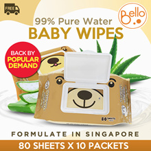 ❤️BELLO❤️ 2019 10th RESTOCK❤️ BABY wipes with CAP 10 Pks ❤️ Aloe Vera ❤️ Vitamin E❤️Fragrance Free