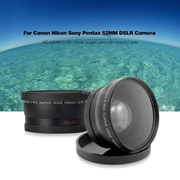 Black 52MM/58MM HD 0.45X Wide Angle Panasonic Lens and Macro Lens for Canon Nikon DSLR Camera 4CO1
