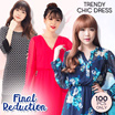 FINAL REDUCTION-TREND chic dress-cocktail-casual dress-dress wanita-pakaian wanita