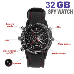 Spy Watch Camera 32GB 16GB 8GB Hidden Camera Watch DVR DV Waterproof Recording+Take Picture+Camcorde