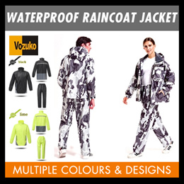 WATERPROOF RAINCOAT JACKET WITH PANTS FOR RIDING OUTDOOR USES/MOTORCYCLE/BIKE/CYCLING/