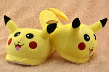 Pokemon Pikachu Slipper Plush Stuffed Slippers Cuddly Fluffy Cartoon Minion Warm Slipper Indoor warm