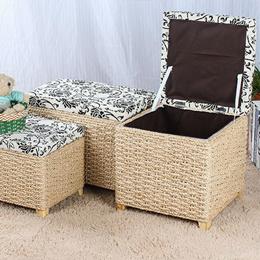 ★Storage Box★Ottoman★Rattan Stool★Organizer★ toy storage★storage bench storage stool storage cabinet