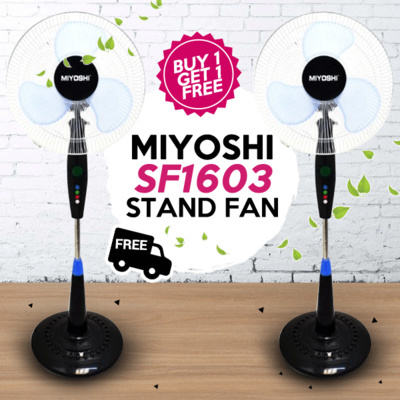 Beli 1 Promo 1 Miyoshi Sf1603 Stand Fan / Kipas Angin Berdiri 16 Inch Free Ongkir Jabodetabek Deals for only Rp289.000 instead of Rp289.000