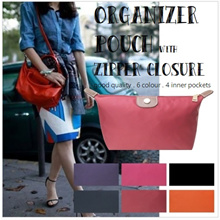 Organizer Pouch with zip closure . Longchamp . LV . Good quality