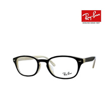 [iroiro] Ray-Ban Rayban glasses frame RX5209D 2464 Black / White Wood Japanese regular RCP