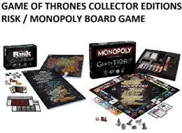 Game of Thrones RISK / MONOPOLY Board Game. Collectors Edition!