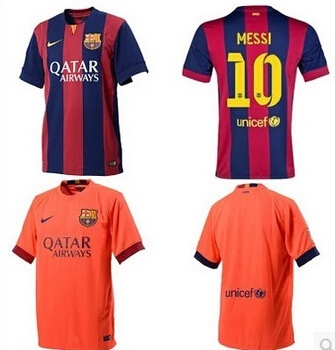 brand new 00f1b a56f5 of the new season at home to Barcelona Barcelona away jersey short sleeve  football clothes on the 11
