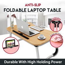 【BIG SIZE】Ergonomic Anti-slip Foldable Laptop Table ★ 60 x 40cm x 28cm ★ Writing/ Bed