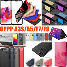 HOT 3D Full Tempered Glass Flip cover case for OPPO AX5 A3S A5 F9 F7 F5 A73 R15 R11S  Find X