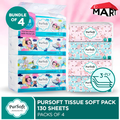 3x Ultra Soft Facial Tissues Paper 3-layer Skin Softening Household Paper