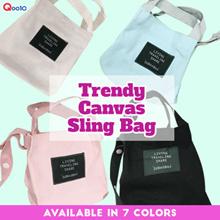 {JMI} Trendy Canvas Sling Bag 0095# - 7 Colors