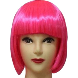 13 Colors  Women Short BOB Hair Wig Straight Bangs Cosplay Party Stage Show