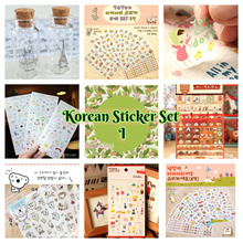 Korean PVC Sticker for Scrapbook / Photo Album / DIY / Diary Sticker - Per Sets #1