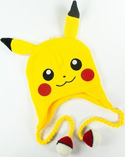 ca23bf92828 Qoo10 - (Bioworld) Pokemon - Pikachu Big Face Laplander Beanie Size ...