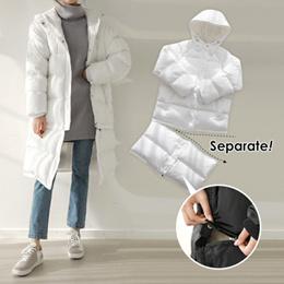 [CHICHERA] Korean fashion NO.1 / Double separation long padding