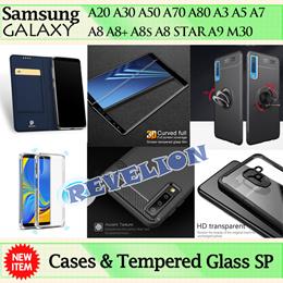 Samsung Galaxy Case Tempered Glass Screen Protector A10 A20 A30 A50 A10s A30s A50s A70 A80 A7 A8 A9