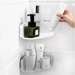 Bathroom shelf toilet toilet vanity triangle shelf storage adhesive-type perforated wall hanging bat