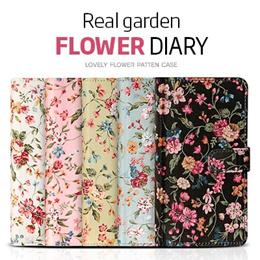 [JK-Commerce]Garden Flower Diary case★Galaxy S10/S9/S8/Plus/Note 9/8/iPhoneX/XS/XR/Max/8/7/Plus