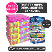 [RB] 32 x Thirsty Hippo Dehumidifier 600ml - Spend $60 get free cushion (Easter week special only)
