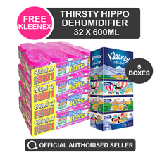 [RB] 32 x Thirsty Hippo Dehumidifier 600ml - FREE Gifts with every bundle purchased