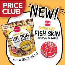 [PRICECLUB] HULA Salted Egg Fish Skin 200g / NEW! Made in SG / Richly coated in Salted Egg