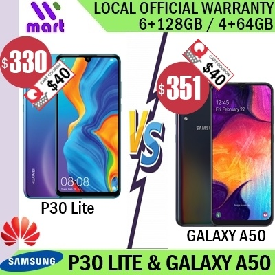 (Local) Huawei P30 lite 6+128GB l Samsung Galaxy A50 4+64GB Deals for only RM1136.3 instead of RM1420