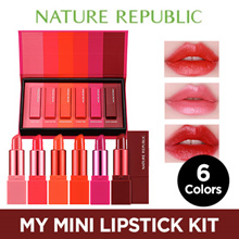 ♥X-MAS GIFT♥LIMITED EDITION♥MY MINI LIPSTICK KIT 6COLORS [NATURE REPUBLIC]