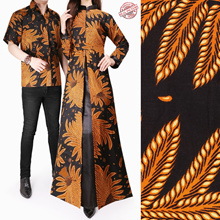 Irwa Longdress Couple Batik Belt WomenBatik Fabric and Men Batik Shirt