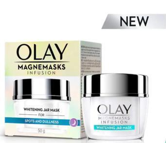 New Olay Magnemasks Infusion Whitening Jar Mask -To whiten your skin while you sleep