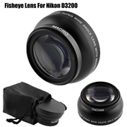 52mm Digtal Fisheye 0.45x Wide Angle Lens HD Macro For Nikon D3200 D3100 D5200